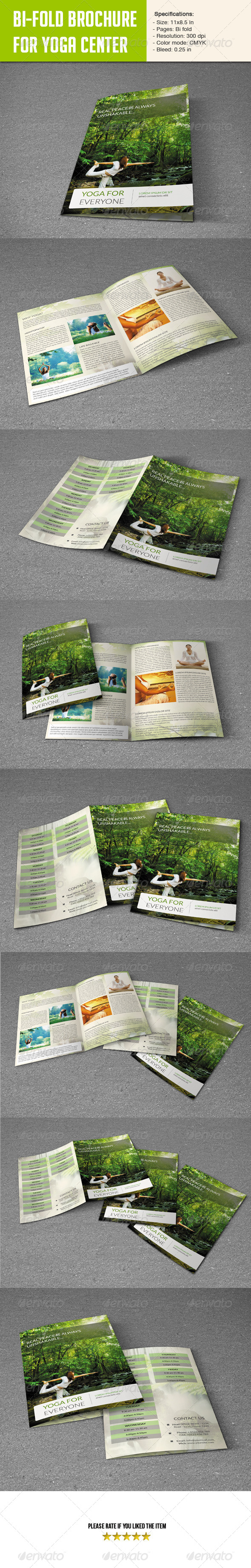 GraphicRiver Bifold Brochure for Yoga Center 5697602