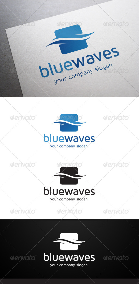 GraphicRiver Blue Waves Logo 5697658