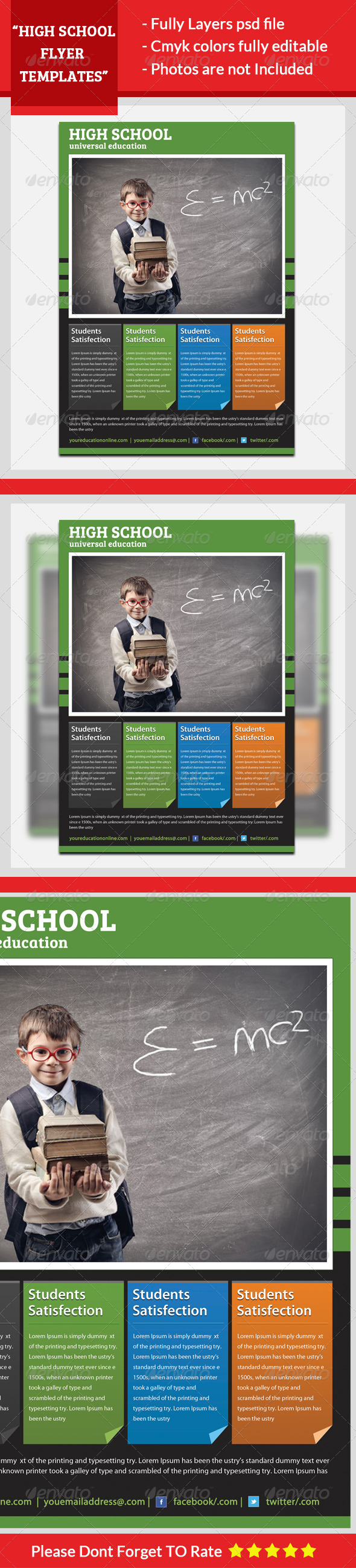 GraphicRiver High School Flyer Template 5623530