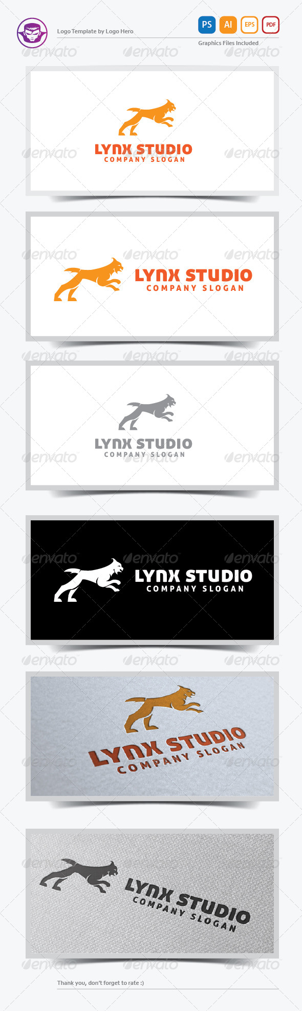 GraphicRiver Lynx Studio Logo Template 5697686