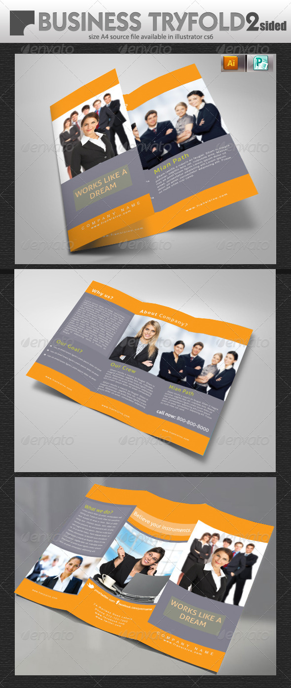 GraphicRiver Business Try-Fold Brochure 5697867