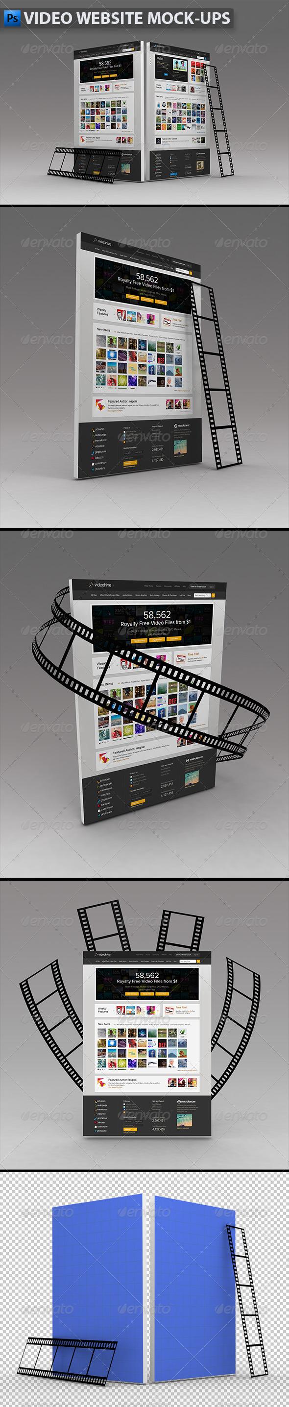 GraphicRiver Video Website Mock-ups 5697872