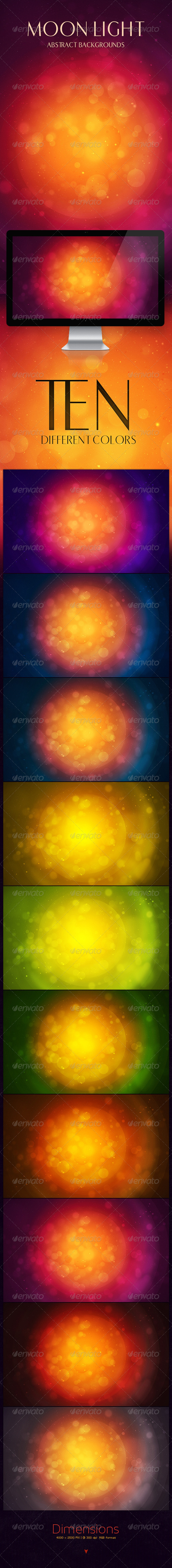 GraphicRiver Moon Light Abstract Backgrounds 5697915