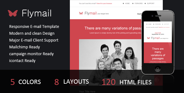 Flymail - Responsive E-mail Template - Email Templates Marketing