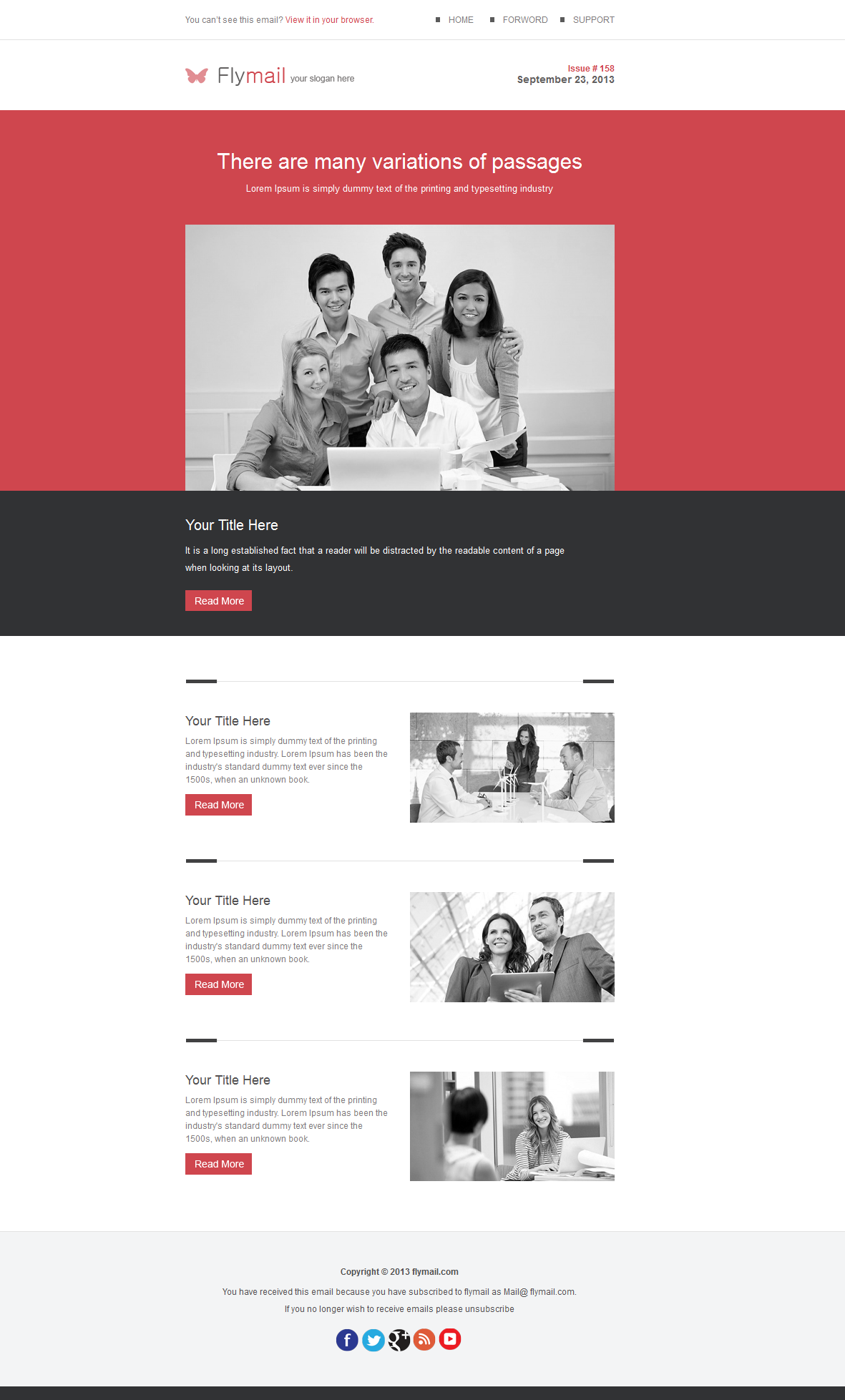 Flymail - Responsive E-mail Template