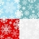 Christmas Seamless Patterns from Snowflakes - GraphicRiver Item for Sale