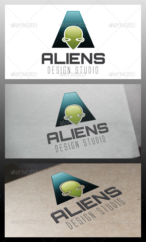 GraphicRiver Alien Media Logo Template 5698640