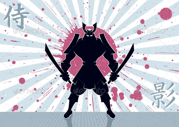 Samurai Background - Characters Vectors