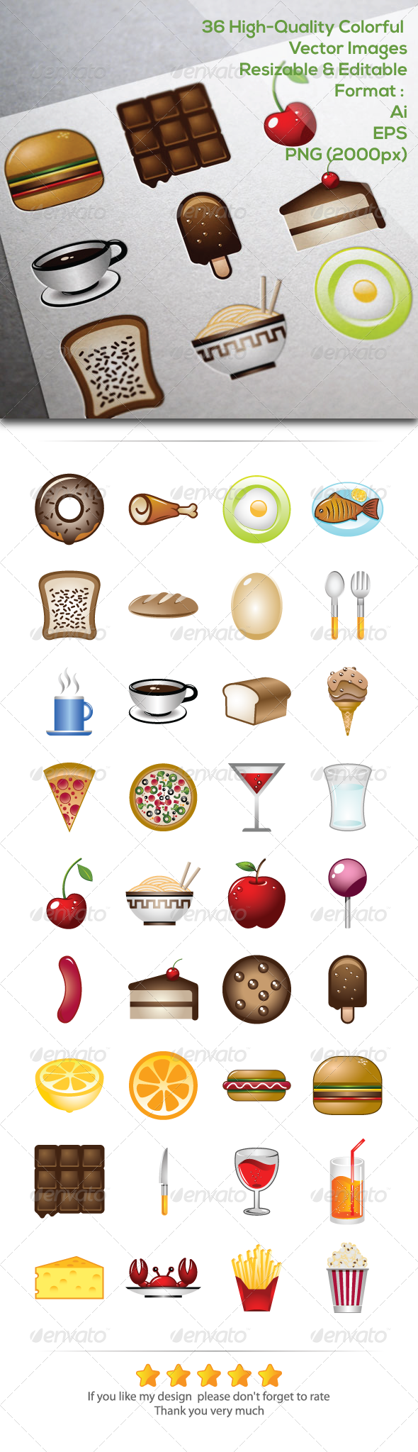 GraphicRiver 36 Food & Beverage Vector Images 5699291