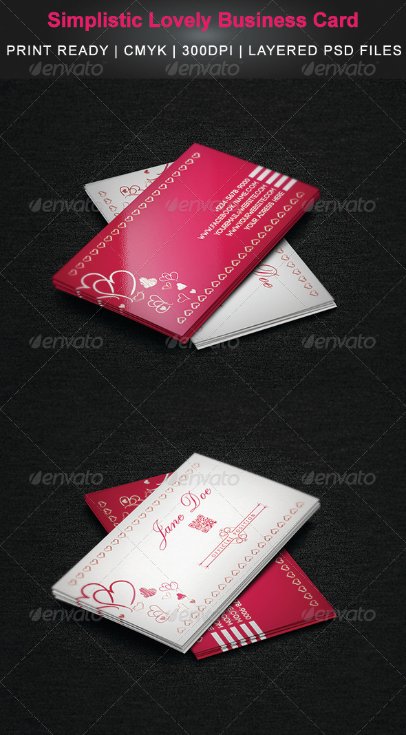 Simplistic Lovely Business Card