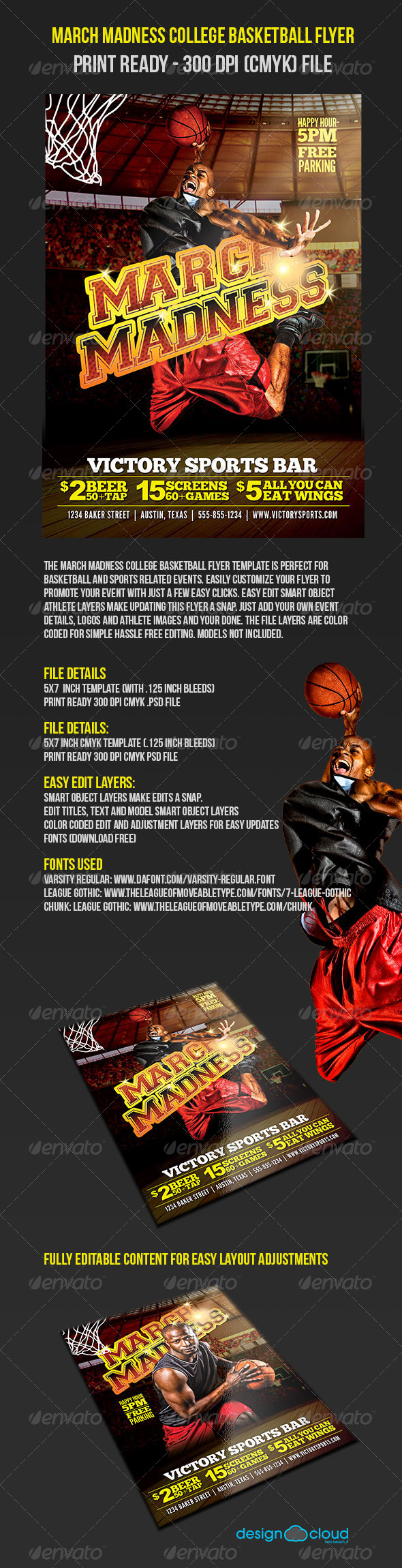 GraphicRiver March Madness College Basketball Flyer 5576416