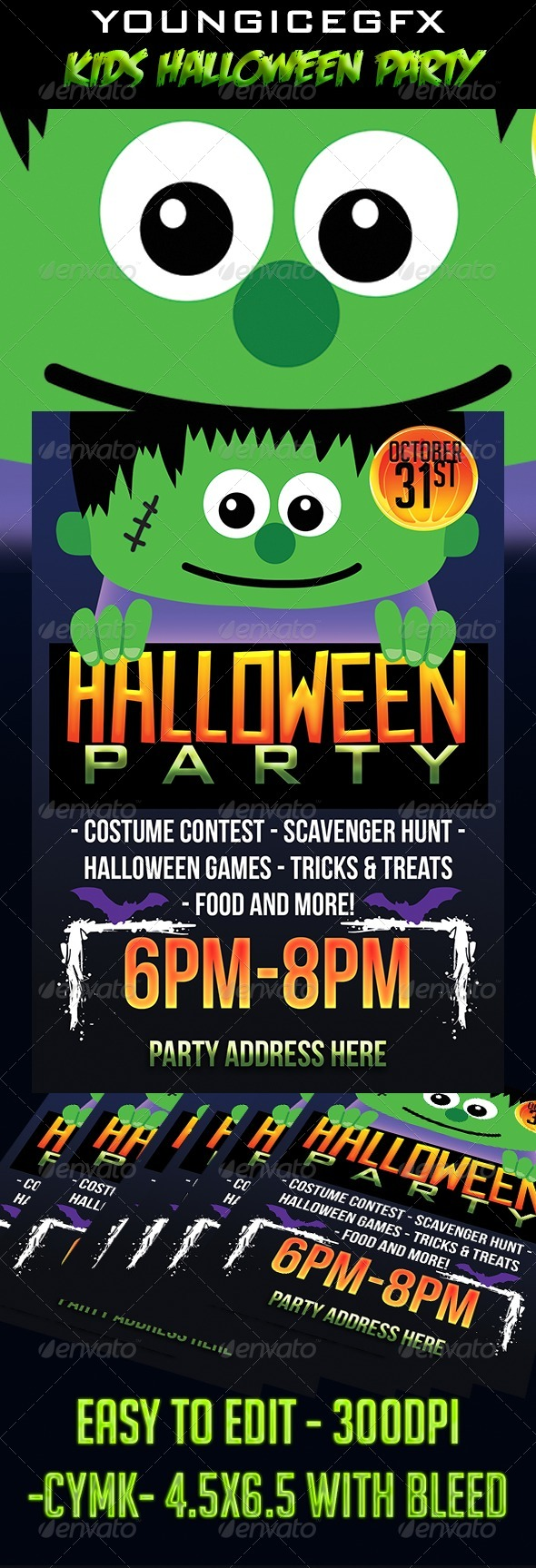 GraphicRiver Kids Halloween Party Flyer Template 5582248