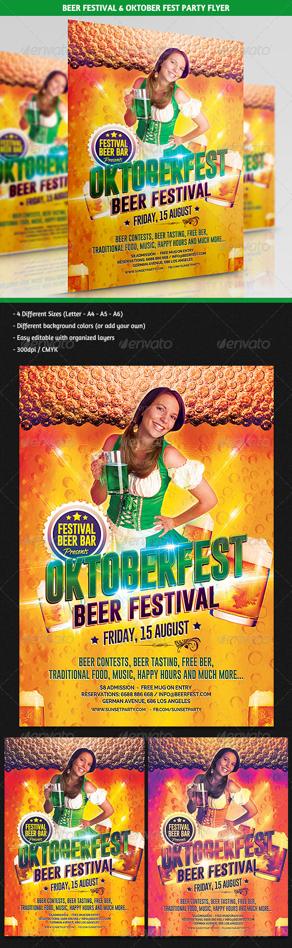GraphicRiver Beer Festival & Oktoberfest Party Flyer 5699798