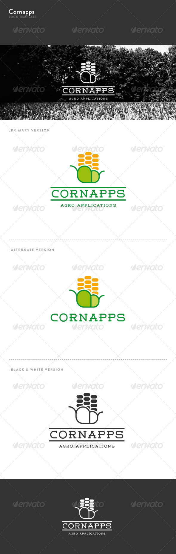 GraphicRiver Corn Apps Logo 5699860