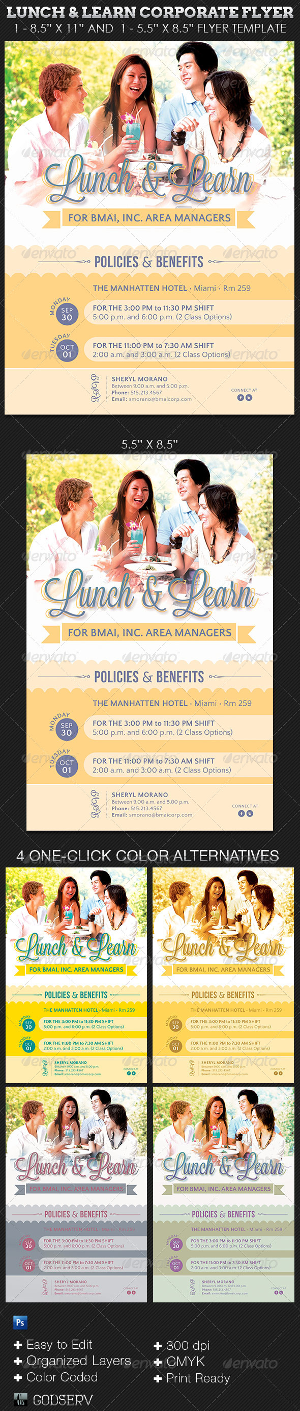 GraphicRiver Lunch and Learn Corporate Flyer Template 5699872