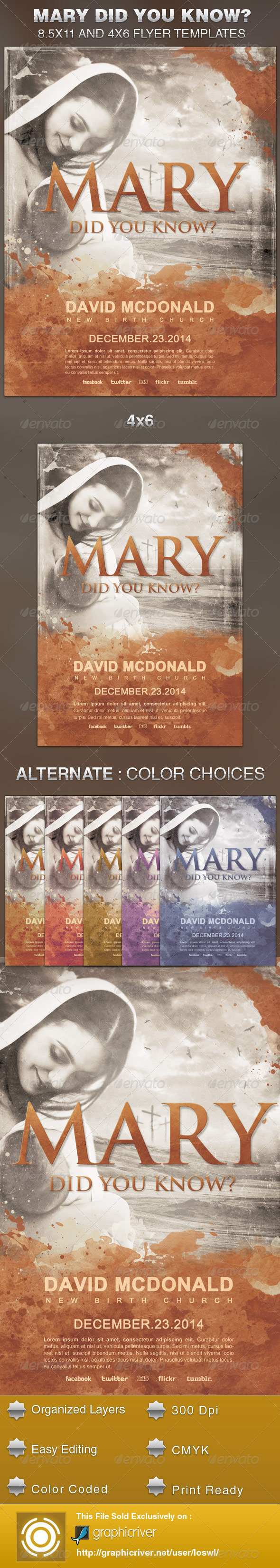 GraphicRiver Mary Did You Know Church Flyer Template 5700040