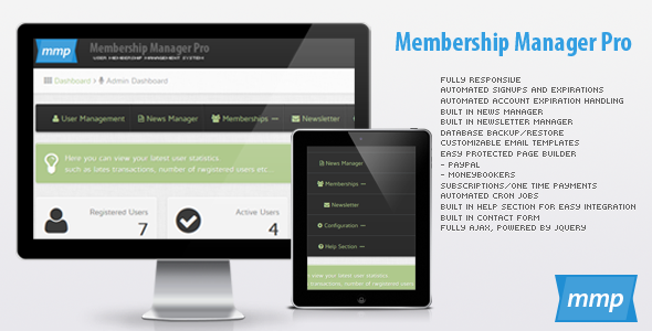 Membership Manager Pro - CodeCanyon Item for Sale