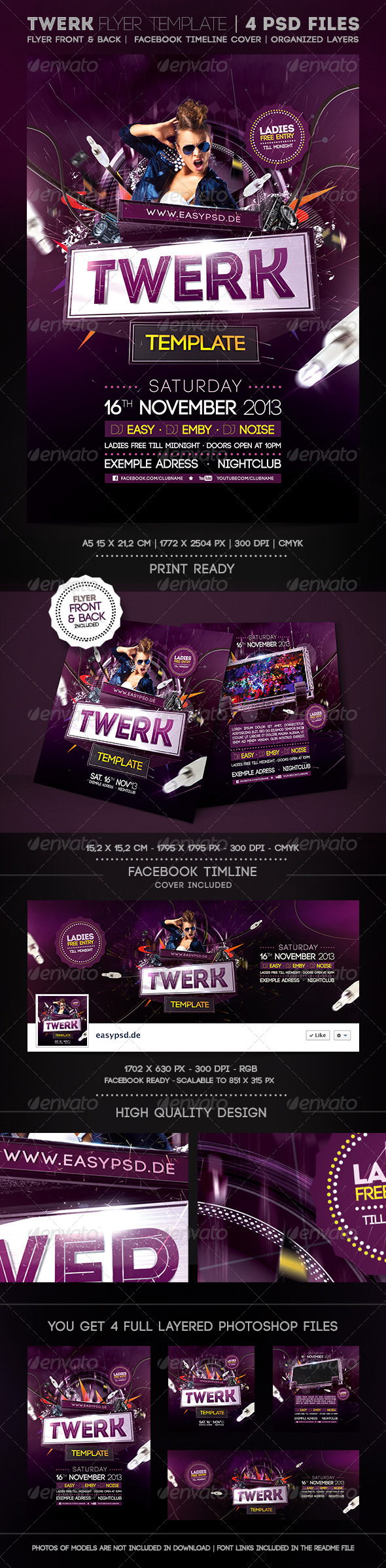 GraphicRiver Twerk Flyer Template 5700197