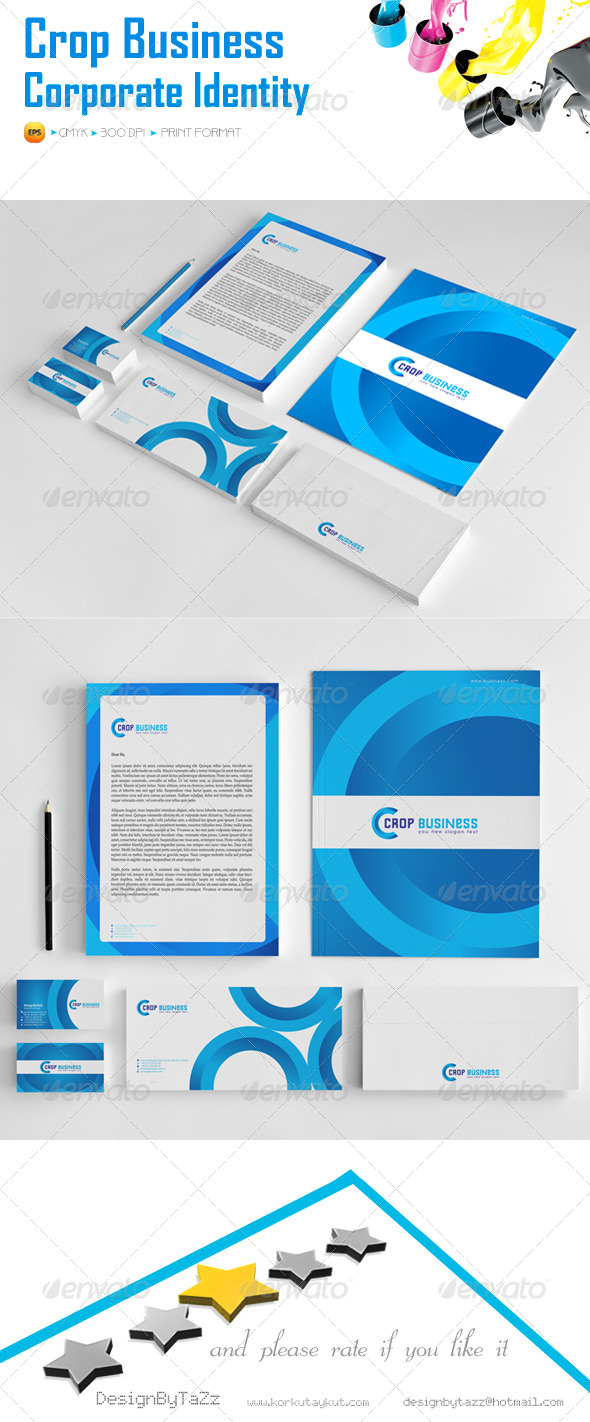 GraphicRiver Crop Business Corporate Identity Package 5628565
