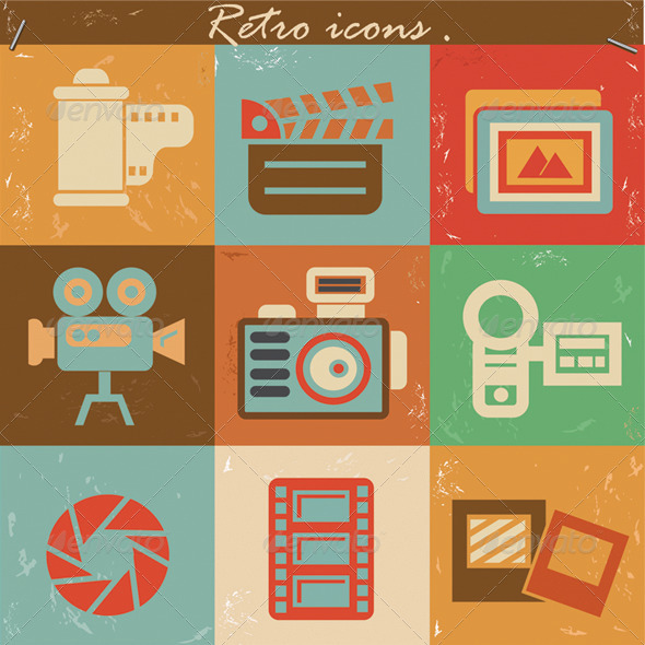 GraphicRiver Photograph Retro Icons 5701376