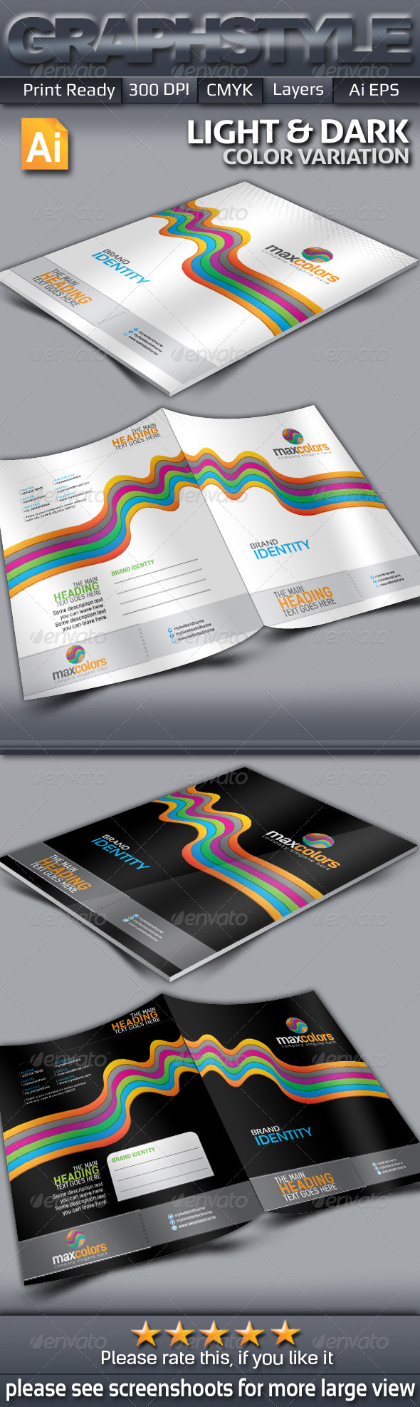 maxcolors Presentation Folder Templates