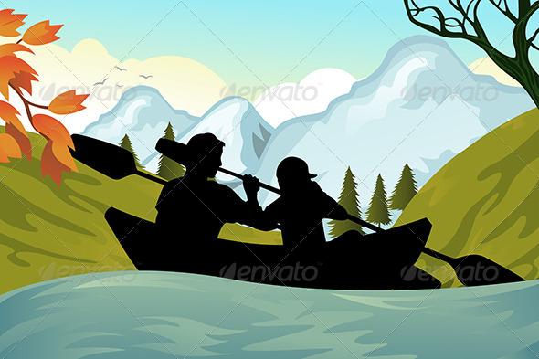 GraphicRiver Kayaking People 5702168