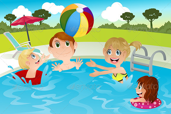 GraphicRiver Family in Swimming Pool 5702187