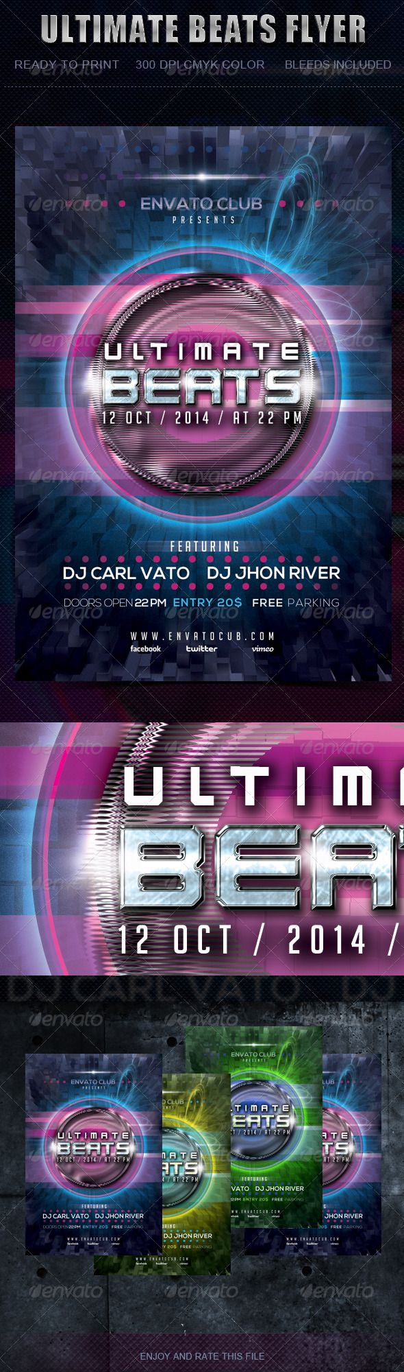 GraphicRiver Ultimate Beats Flyer 5702552