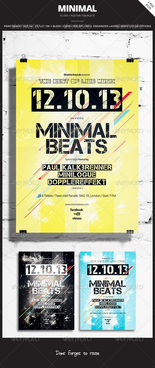 Minimal Flyer / Poster 2 - Events Flyers