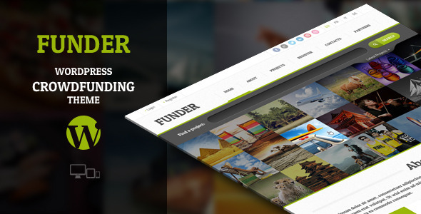 ThemeForest FUNDER Crowdfunding Wordpress Theme 5689109