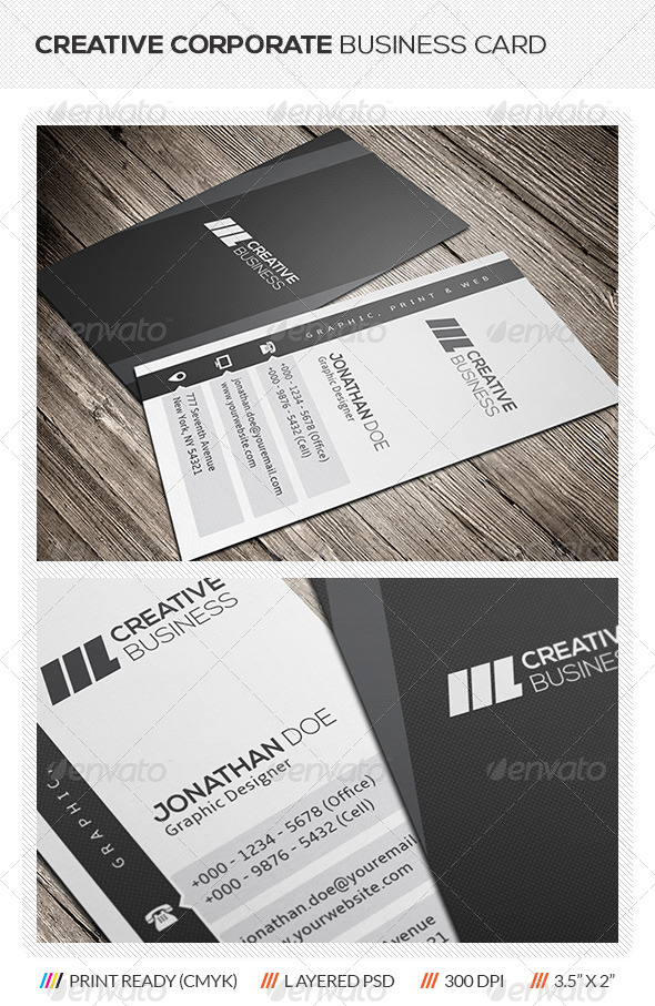 GraphicRiver Vertical Corporate Business Card 5702856