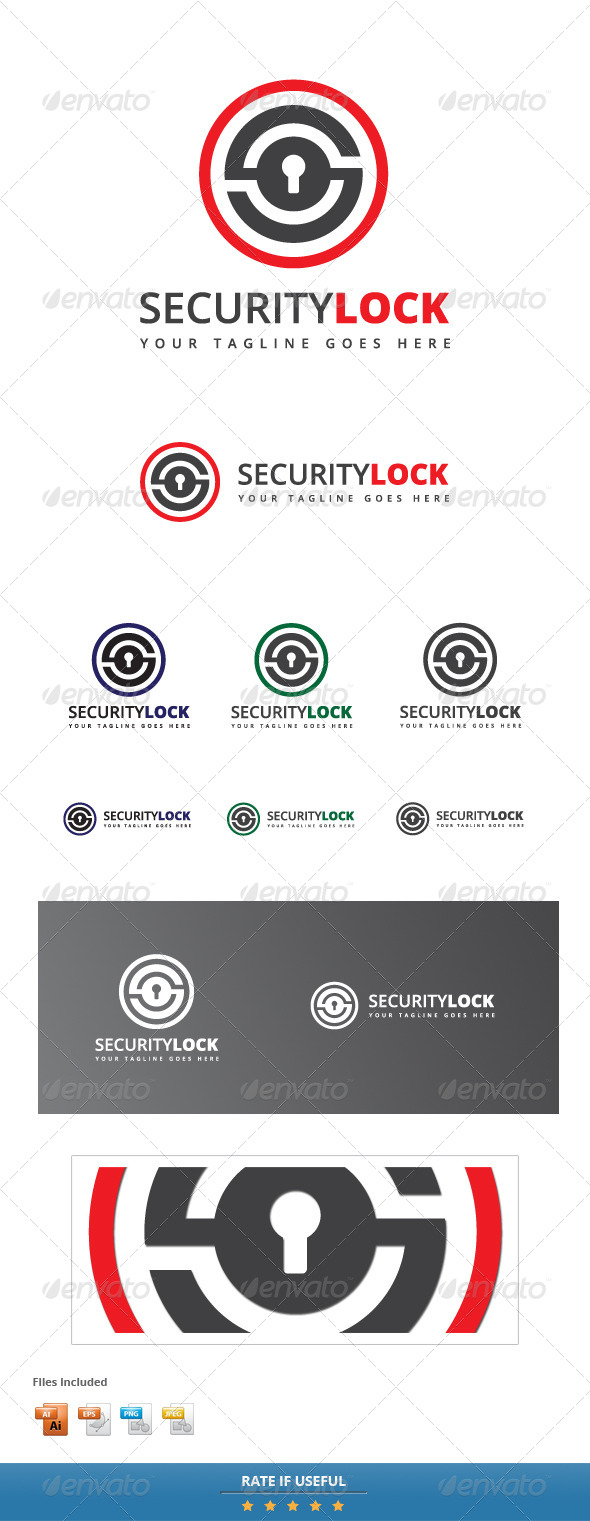 GraphicRiver Security Lock Logo Template 5702901