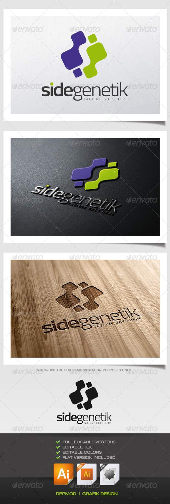 GraphicRiver Side Genetik Logo 5702915