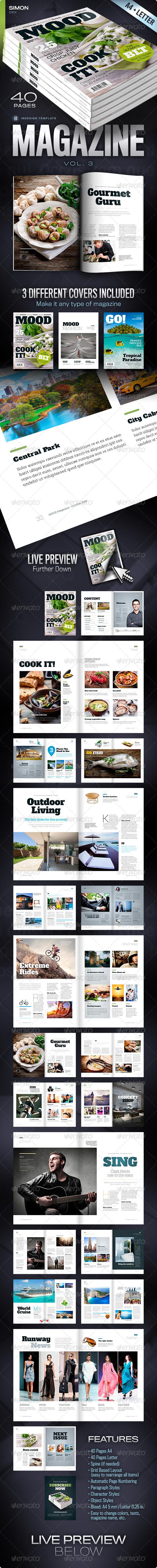 Magazine Vol. 3 - Magazines Print Templates