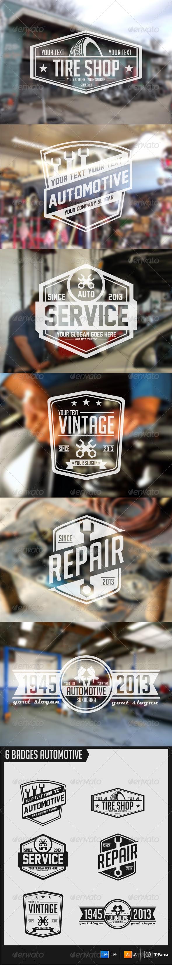 GraphicRiver Automotive Badges 5703189