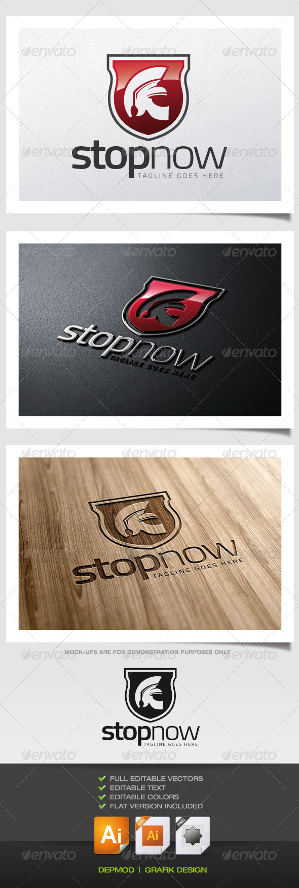 GraphicRiver Stop Now Logo 5703265