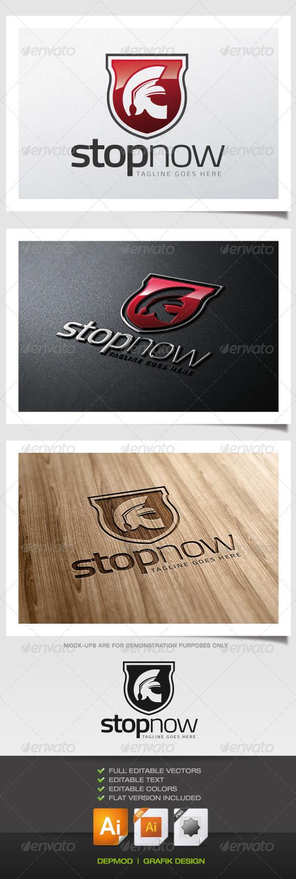 Stop Now Logo - Symbols Logo Templates