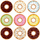 Set of Nine Donuts - GraphicRiver Item for Sale