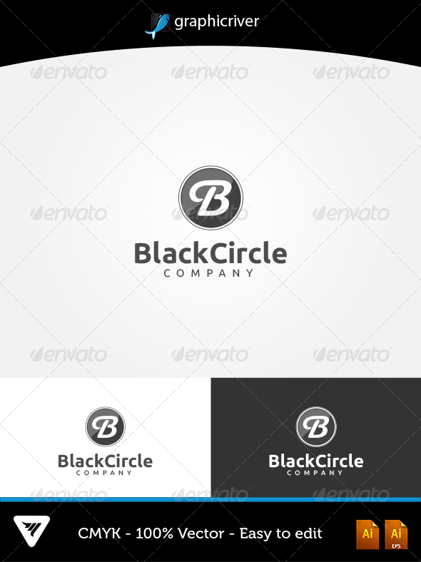 GraphicRiver BlackCircle Logo 5703541