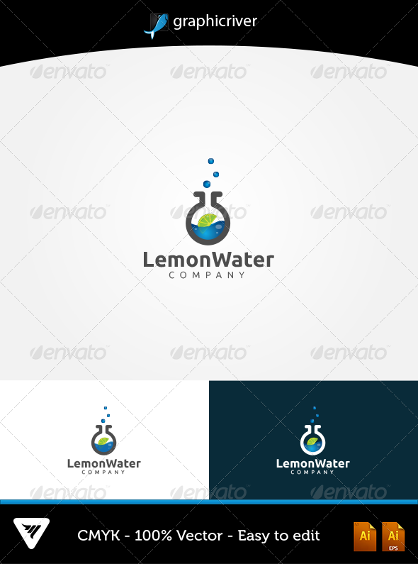 GraphicRiver LemonWater Logo 5703821