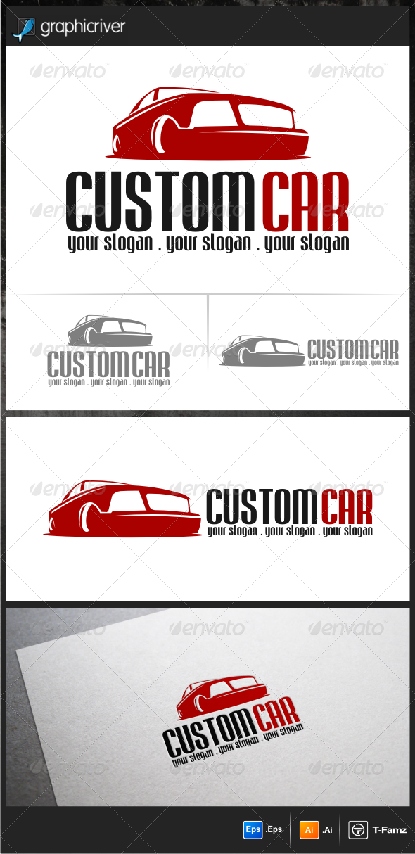 GraphicRiver Custom Car Logo Templates 5704230