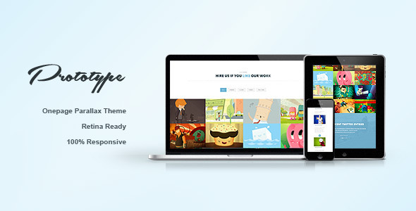 Prototype - Responsive One Page Template (Portfolio)