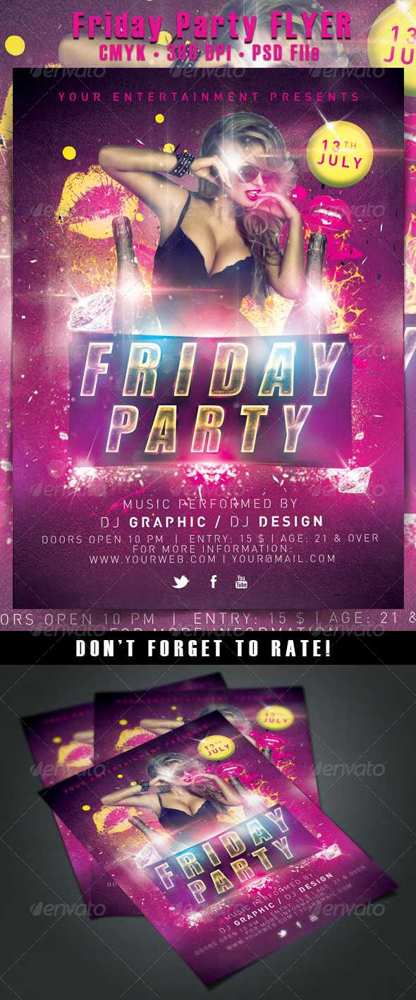GraphicRiver Friday Party Flyer 5704390