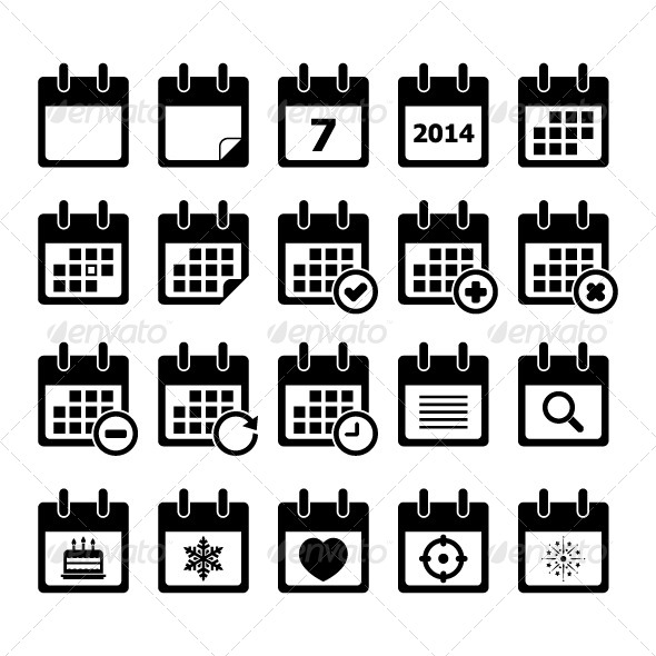 calendar icon  web elements  download