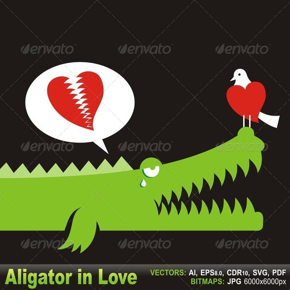 GraphicRiver Alligator in Love 5704745