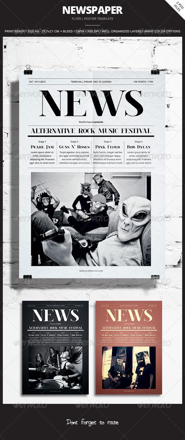 Newspaper Flyer Poster 3