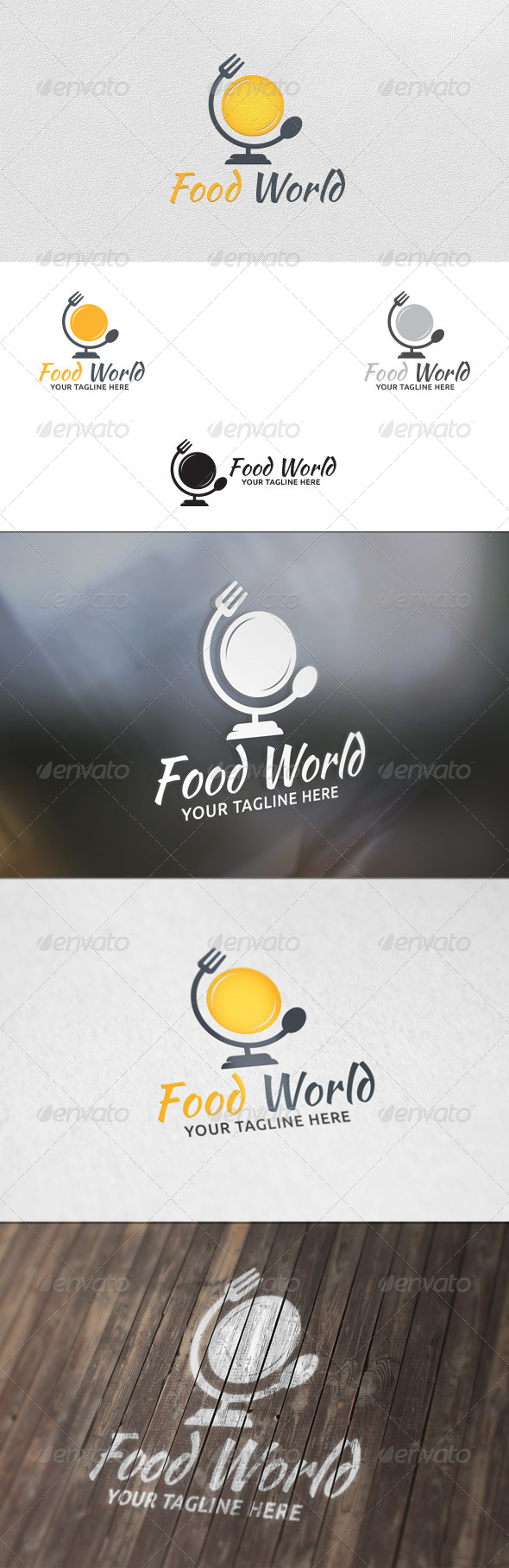 GraphicRiver Food World Logo Template 5704852