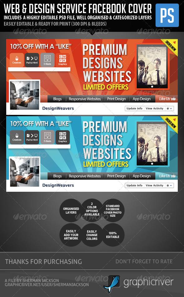 GraphicRiver Web Design Service Facebook Cover Image 5704943