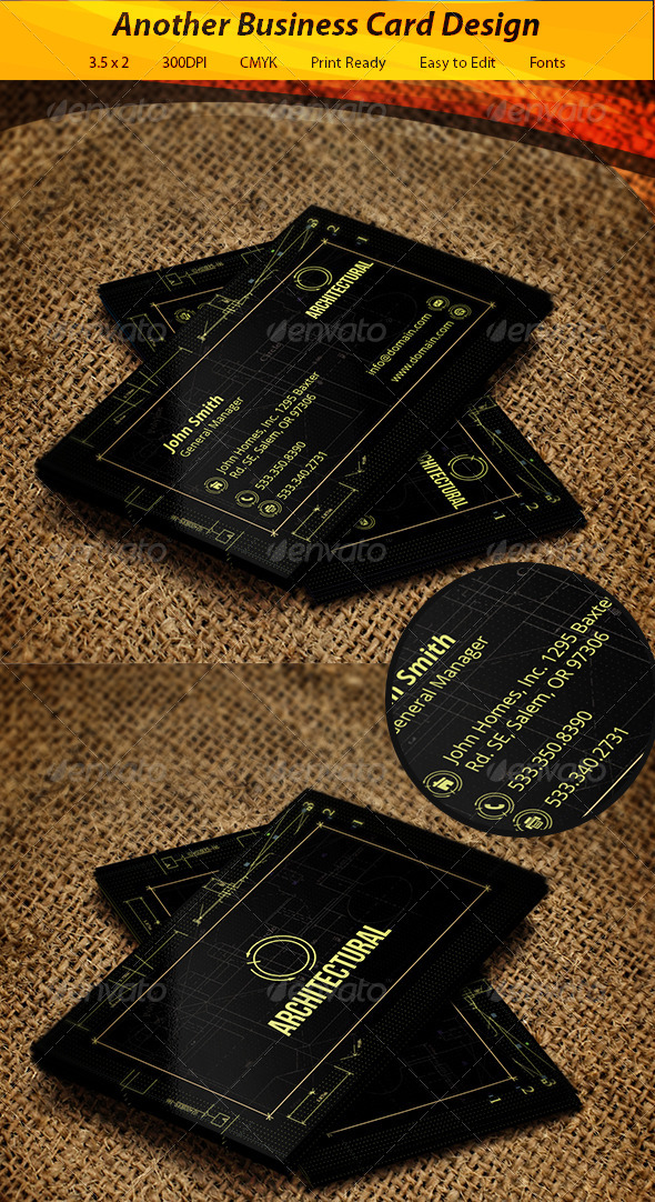 GraphicRiver Architectural Business Card 5705562
