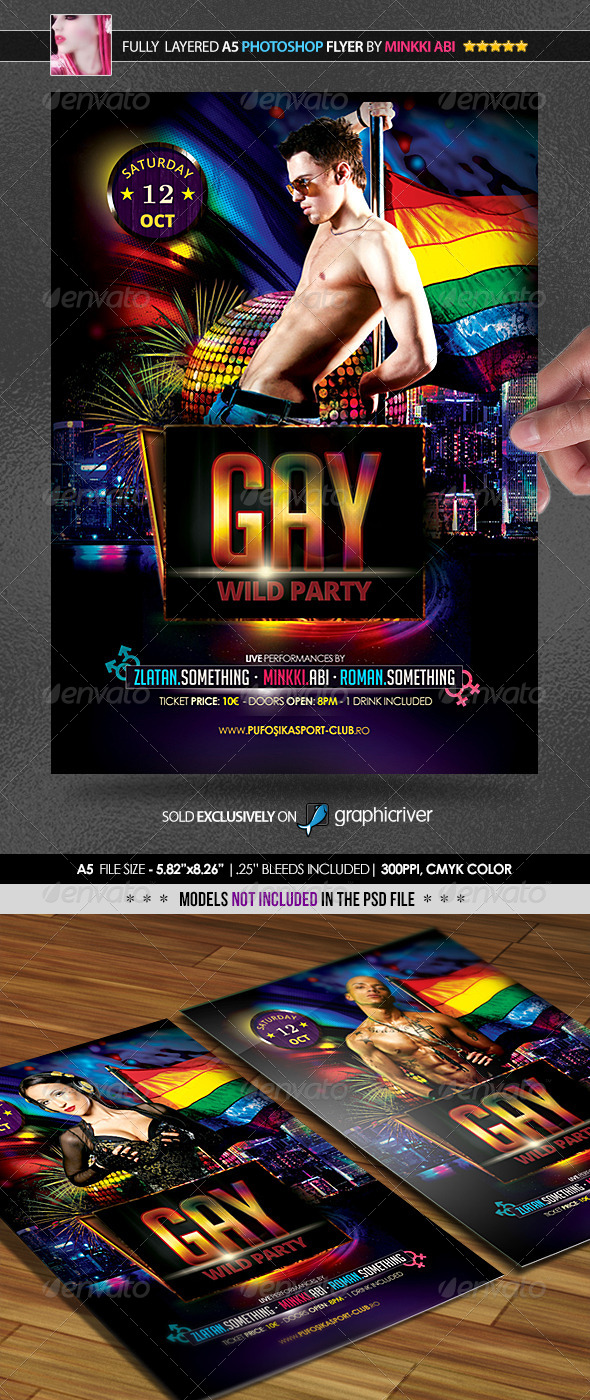 Gay Party Poster Flyer Graphicriver